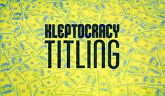 Kleptocracy Titling Font Family · 1001 Fonts Latest Fonts, Font Family, Fresh