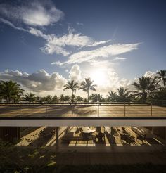Image 21 of 53 from gallery of Txai House / Studio - Marcio Kogan + Carolina Castroviejo + Gabriel Kogan. Photograph by Fernando Guerra Gabriel, Studio Mk27, House Studio, Oscar Niemeyer, Exterior, Garden Pool, Modern House Design, Modern Houses, Contemporary Architecture