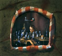 Håkon Gullvåg - Art Hakone, Trondheim, Melancholy, Oslo, Contemporary, Artist, Painting, Dioramas, Painters