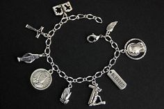 Queen of the Most Holy Rosary Bracelet. Christian Bracelets, Christian Jewelry, Serenity Prayer Bracelet, Wholesale Silver Jewelry, Silver Jewellery, Silver Ring, Catholic Jewelry, Thing 1, Rosary Bracelet