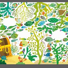 Under the Sea Picture Puzzle Book for Usborne illustrated by Gareth Lucas