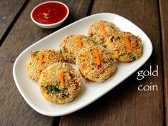 veg gold coin recipe, vegetable gold coins, chinese gold coins with step by step photo/video. simple indo chinese snacks recipe prepared with roundel bread. Vegetable Dishes, Vegetable Recipes, Vegetarian Recipes, Healthy Recipes, Veggie Food, Chinese Vegetables, Mixed Vegetables, Veggies, Appetizer Recipes