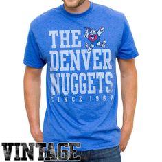 Denver Nuggets Team Word Block Vintage T-Shirt - Royal Blue - $14.99