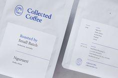 De huisstijl van Collected Coffee lijkt wel kunst