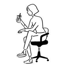 Instagram 上的 Yu Nagaba:「 2月21日(水)から新宿伊勢丹にてvitraの家具と僕のイラストのコラボレーションで理想のホームオフィス空間を提案しますぜひお立ち寄りくださいね! ・ ▼ 2月21日(水) - 3月6日(火)、伊勢丹新宿店本館5階リビングデコール「ヴィトラ ホームオフィス… 」 Object Drawing, Wall Drawing, Drawing Poses, Sketching Tips, Figure Sketching, Pretty Drawings, Easy Drawings, Character Illustration, Graphic Illustration