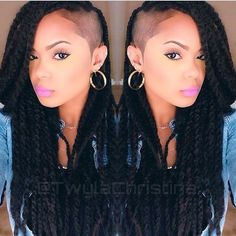 @TwylaChristina looks gorgeous with her Marley Twists and shaved side! She makes…