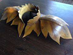 beautiful leaf-design shoulder armor for a wood elf