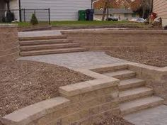 installing retaining wall - Google Search