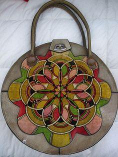 Round vintage bag