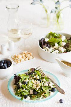 Salade met geitenkaas en blauwe bessen   simoneskitchen.nl