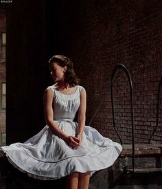 """West Side Story"" - Publicity shot of Maria (Natalie Wood) in her first dance dress."