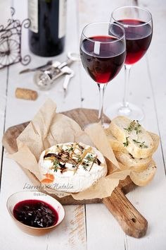 Photograph Baked Camembert by Natalia Lisovskaya on Food Platters, Cheese Platters, Simple Cheese Platter, Baked Camembert, Wine And Cheese Party, Red Wine Cheese, Snacks, Food Presentation, Wine Recipes