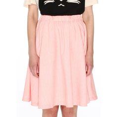 Catootje Rok Fuensanta pink pastel light licht roze vintage look skirt
