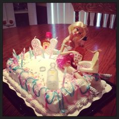 birthday cake :) I actually made 21st Bday Ideas, Birthday Ideas, 21st Birthday, Birthday Cake, Barbie Funny, Birthday Candles, Sweet Tooth, Projects To Try, Birthdays