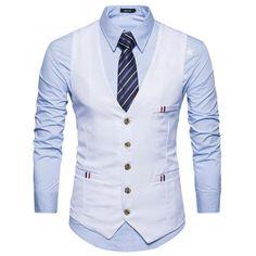 Vest outfits men - V Neck Braid Embellished Single Breasted Suit Vest Waistcoat – Vest outfits men Mens Suit Vest, Mens Suits, Stylish Waistcoats, Gilet Costume, Khaki Suits, Men's Waistcoat, Designer Suits For Men, Slim Fit Suits, Fitted Suit