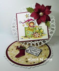 LOTV - Box of wishes with Woodland Wishes Paper Pad and Christmas Grungy Messages by Donna Mosley
