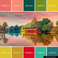 South East Asia |Color Palette Inspiration. | Digital Art Palette And Brand Color Palette.