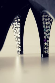 Glamourize your shoes. Fantastic idea!