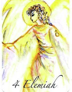 "(4) ELEMIAH (Kabbalistic angel) 5-9 April, provides essence of: Divine Power. (ángel Cabalístico) 5-9 abril, aporta esencia de: Poder Divino. Deck: ""Le Carte degli Angeli"" Artist: Oliwka Neugebauer Angel Drawing, Aries, Tarot, Spirituality, God, Watch, Drawings, Fictional Characters, Dios"