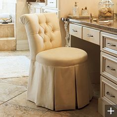 Modern Bathroom Vanity Stool Decoration Ideas