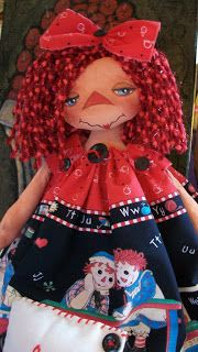 *RAGGEDY ANN ~ Painted Heart Designs...I think she is one of the most prettiest I have seen so far!