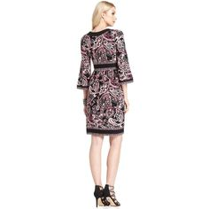 INC International Concepts Dress, Bell-Sleeve Printed Jersey ($39) found on Polyvore