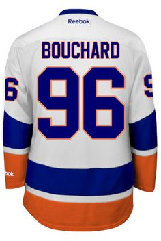 New York Islanders Pierre-Marc BOUCHARD 96 Official Away Reebok Premier  Replica ... 3aa43d497