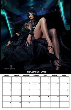 """Femme Fatale"" - a new 12-page calendar can be ordered online.  http://www.cafepress.com/alekseymarinashop/10470291"