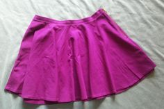 Victorias Secret Purple Circle Skirt With gold zipper Size 8 #VictoriasSecret #Circle