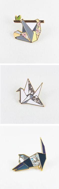 Origami Soft Enamel Pin by folditcreations