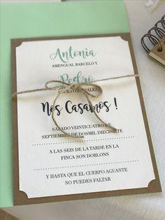 Invitación de boda colección Craft modelo Mint