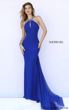 Sherri Hill 32165 Royal Keyhole Evening Gown