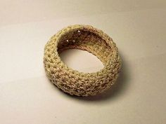 free Metallic Crochet Bangle Bracelet crochet pattern
