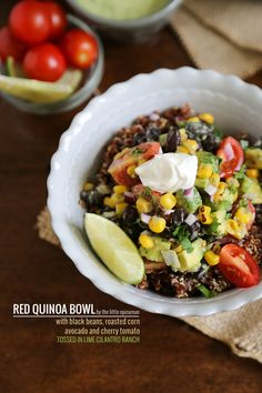 RED QUINOA BOWL WITH LIME CILANTRO RANCH