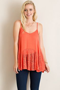 Love Your Sway Lace Tank