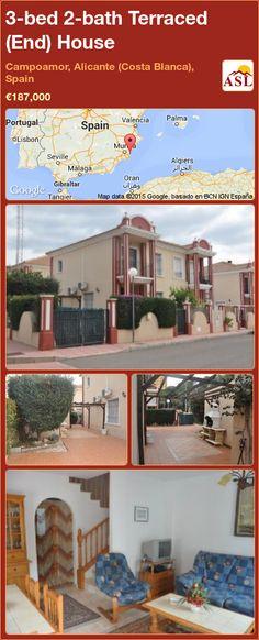 3-bed 2-bath Terraced (End) House in Campoamor, Alicante (Costa Blanca), Spain ►€187,000 #PropertyForSaleInSpain