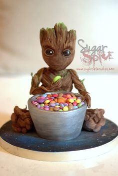Baby Groot Cake made for a 9th birthday #cake #birthday #chocolate #food #dessert #yummy #love #baking #foodporn #sweet #recipe