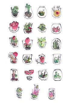 Scribblings — 100+ mini terrarium cards finished! I will be...
