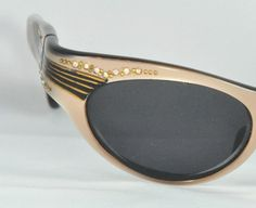 640cb153cbd Vintage Cat Eye Glasses Soft Gold Color with AB by VintageKismet