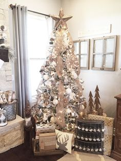 Create easy DIY Christmas Tree Ornaments this year to cordinate with any Christmas decor. I created a neutral Rustic Farmhouse christmas Tree decor...