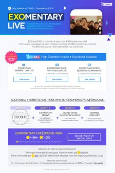V Live +. V Live는 작년 중순 네이버가 런칭한 개인방송 앱으로, 스타와 팬 사이의 양방향 소통을 가능케 한다는 목적으로 탄생하여 런칭 약 1년만에 팬들, 특히 K-Pop 팬들의 필수 서비스로 자리잡았다. V Live는 모두 무료로 운영되나, 최근 유료서비스 V Live +를 런칭했다. 유료회원만을 위한 실시간 방송, 다시보기, 그리고 미공개 영상을 제공한다.  대부분의 실시간 방송 서비스의 경우 방송시청 및 다시보기는 무료로 운영되고, 방송 중 시청자들의 자발적인 기부(ex. 별풍선)를 통한 수익 창출을 하는데, V Live +는 방송 시청권 자체를 유료화하는 시도를 했다. 그리고 그 결과는 꽤나 성공적인 것으로 보인다(스타 방송이라는 특성이 큰 영향을 미치긴 했겠지만).  최근 트렌드인 실시간 방송을 통한 새로운 수익 모델을 제시했다는 점에서 의미가 있다.
