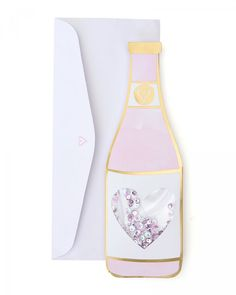 Wine Bottle Valentine's Day Card - Celebrate the day of love with your best gal pals! Features a fun wine bottle design with a purple confetti shaker, inside of the card reads: 'Girls Just Wanna Drink Wine! Happy Galentine's Day To You! Wine Bottle Design, Wine Design, Happy Galentines Day, Gal Pal, Shaker Cards, Card Reading, Wine Drinks, Valentine Day Gifts, Valentine Ideas