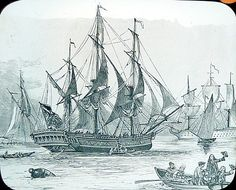 C1900 Methodist John Wesley Sails on The Simmonds for Georgia. USA Lantern Slide. The Moravians were also on this ship, husband's 6th great Gottlieb Demuth.