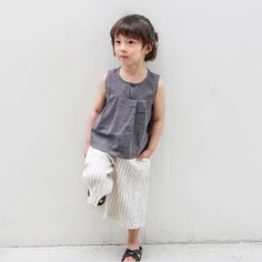 Lightweight striped ivory cotton pants for boys and girls. Elasticated waist for comfort and easy dressing. Pictured here with our dinosaur tee and sleeveless top Made from Cotton Color: Ivory Short Kurti Designs, Crochet Baby Clothes, Short Girls, Boy Or Girl, Dress Up, Normcore, Casual, Kid Dresses, Charcoal