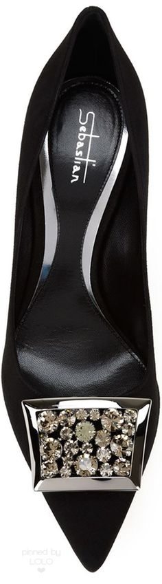 SEBASTIAN MILANO Embellished Stiletto Pump   LOLO❤︎