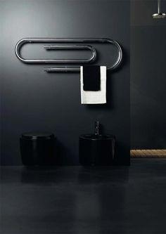 ♂ black white gray minimalist interior design paper clip design
