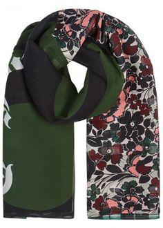 Patchwork-print silk chiffon scarf - Scarves - All Accessories - Women