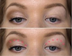 The ultimate makeup trick for hooded & deep set eyes - Charlotta Eve Eyeshadow For Hooded Eyes, Eyeshadow Tips, Dark Eyeshadow, Natural Eyeshadow, How To Apply Eyeshadow, Natural Eye Makeup, Eyeshadow Tutorials, Makeup Tutorials, Make Up Hooded Eyes