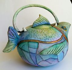 Arieta Stavridou-Teapot-polymer clay