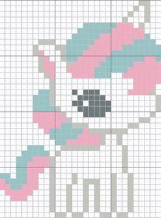 Pony Chart pattern by Kody May Kline Mode Crochet, C2c Crochet, Tapestry Crochet, Crochet Chart, Unicorn Cross Stitch Pattern, Crochet Unicorn Pattern, Cross Stitch Designs, Cross Stitch Patterns, Beading Patterns